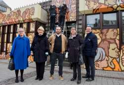 Inauguration de l'œuvre artistique « One city – one world »